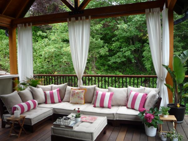 Photo: Dwell With Dignity. Curtains Framing And Outdoor ...