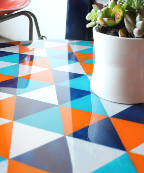 Incroyable  I Hope This Has Inspired You To Take Pattern Into Consideration This  Summer. Itu0027s So Easy To Make And It Can Revamp Your Old Glass Tables Both  ...