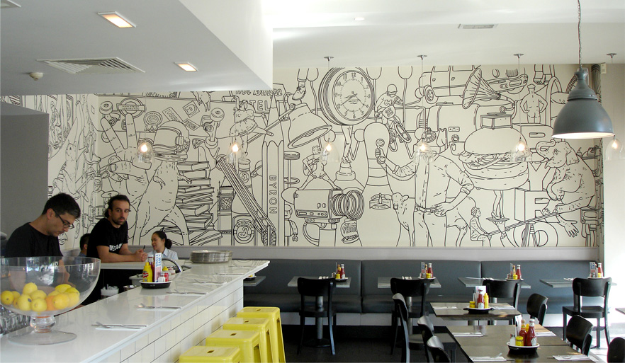 Inspire murals dwell with dignity for Mural restaurant