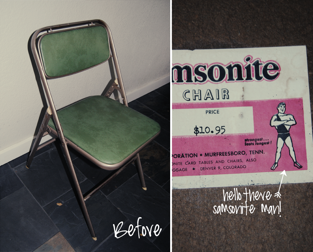 DIY: Folding Chair Makeover