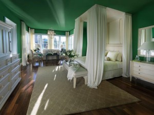 Emerald Room with White Canopy via HGTV