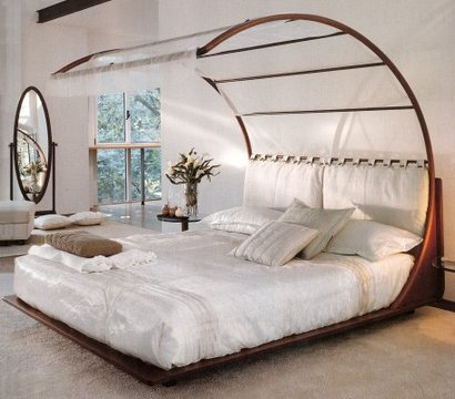 Arched Canopy via Kalu Interiors & INSPIRE: Canopy Beds | Dwell with Dignity