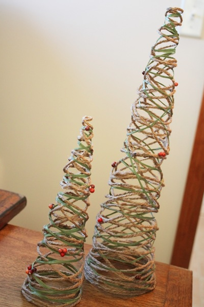 Christmas Decorations Cone Trees : Diy decorative christmas cones dwell with dignity