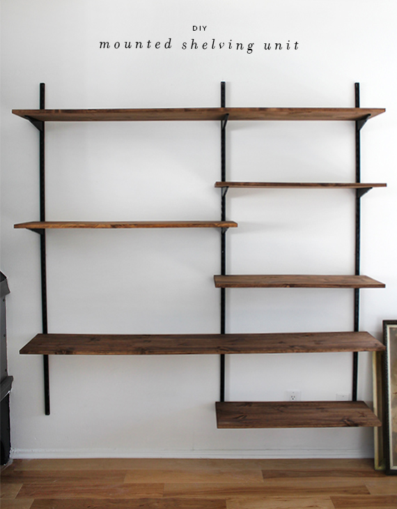 Diy simple wall shelving dwell with dignity for Easy diy shelves