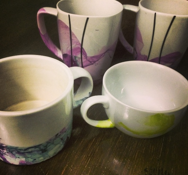 DIY: Marble Dipped Mugs | Dwell with Dignity