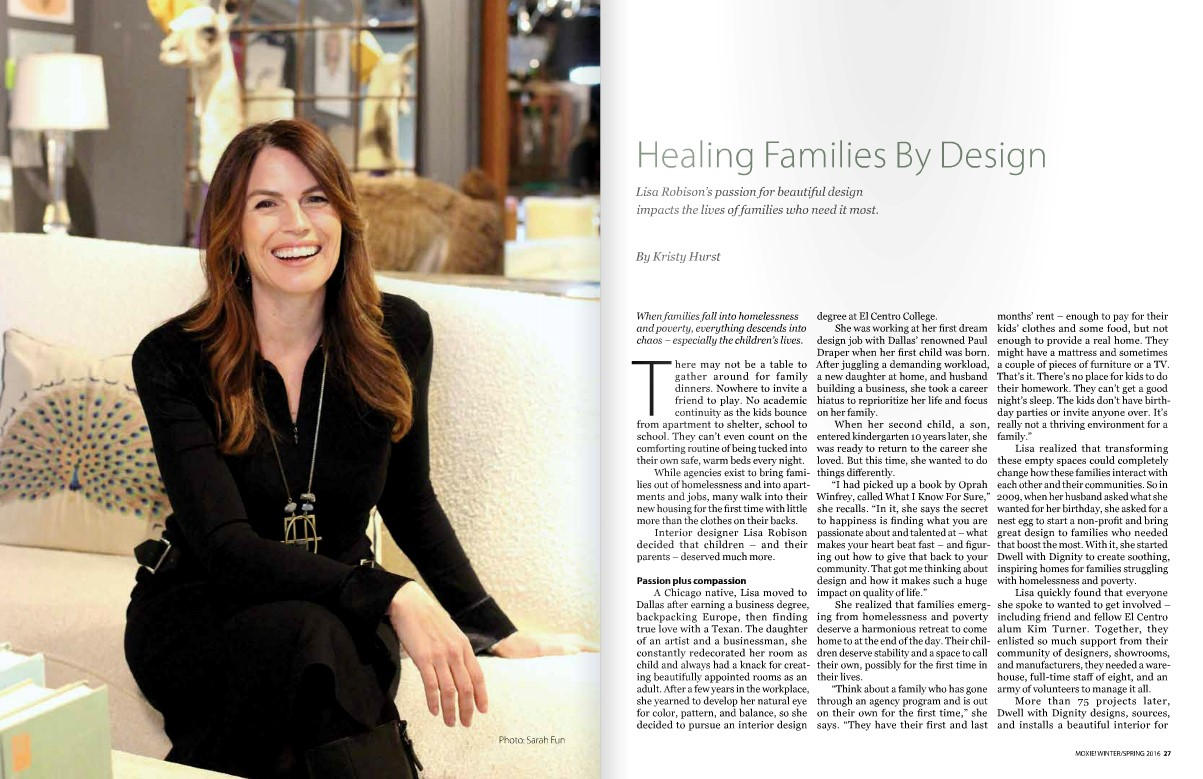 Press: Moxie features Dwell with Dignity