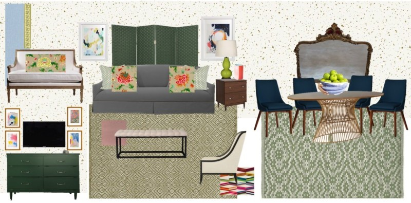 GordonDunning Design Board for the One Room Challenge with Dwell with Dignity Atlanta